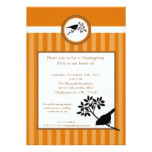 5x7 Fall Bird Harvest Thanksgiving Invitation