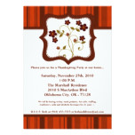 5x7 Fall Flower Floral Thanksgiving Invitation