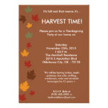 5x7 Fall Leaves Harvest Thanksgiving Invitation