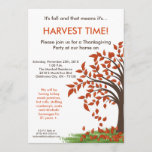 5x7 Fall Leaves Tree Harve Thanksgiving Invitation