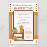 5x7 Fall Pumpkins Harvest Thanksgiving Invitation