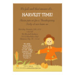 5x7 Fall Scarecrow Harvest Thanksgiving Invitation