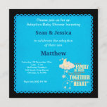 Adoption Baby Shower Boy Invitation