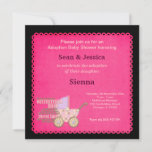 Adoption Baby Shower Girl Invitation