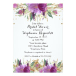 Amethyst Spring Floral Bridal Shower Card