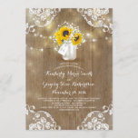 Baby's Breath Mason Jar Sunflower Rehearsal Dinner Invitation
