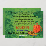 BackPack & Boots Camping Party Birthday Invitation