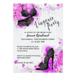 Black Lace and Diamonds Lingerie Shower Invitation