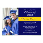 Blue and Gold Graduation Invitation Class of 2012