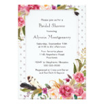 Boho Modern Watercolor Floral Bridal Shower Card
