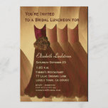Bridesmaid Brunch Chocolate Gold Dresses Metallic Invitation