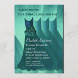 Bridesmaid Brunch Teal Green Dresses Metallic Invitation