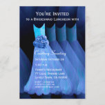 Bridesmaid Luncheon Blue Dresses V11 Invitation