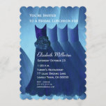 Bridesmaid Luncheon Brunch Blue Dresses V01 Invitation