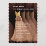 Bridesmaid Luncheon Brunch Golden Tan Dresses V05 Invitation