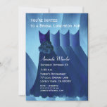 Bridesmaid Luncheon or Brunch Blue Dresses G569 Invitation