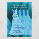 Bridesmaid Luncheon or Brunch Blue Dresses V05 Invitation