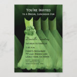 Bridesmaid Luncheon or Brunch Green Dresses V03 Invitation