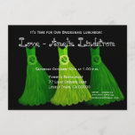 Bridesmaid Luncheon or Brunch Lime Green Dresses 2 Invitation