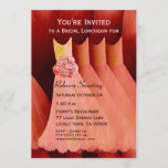 Bridesmaid Luncheon or Brunch Peach Dresses V04 Invitation