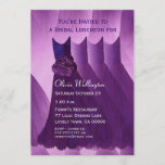 Bridesmaid Luncheon or Brunch Purple Dresses Invitation