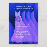 Bridesmaid Luncheon or Brunch Purple Dresses V06 Invitation