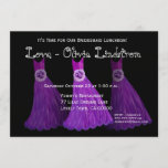 Bridesmaid Luncheon or Brunch Royal Purple Dresses Invitation