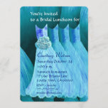 Bridesmaid Luncheon or Brunch Turquoise Blue V02A Invitation
