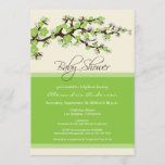 Cherry Blossom Baby Shower Invitation (lime)