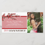 Cherry Blossom Graduation Announcement (red)