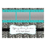 chic aqua triple photo film strip Graduation Card