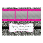 chic pink triple photo film strip Graduation Card