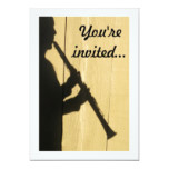 Clarinet Shadow invitation