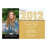 Class of 2012 Graduation Party Invitations Gold