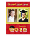 Class of 2012 Red and Gold Argyle Graduation Card