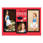 Class of 2012 Red Damask Graduation Invitation