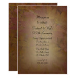 Colored Maple Leaves Wedding Anniversary Invite