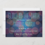 Colorful Glow in the Dark Party Invitation
