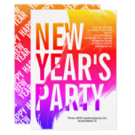 Colorful watercolor New Year's 2019 Eve party Invitation