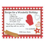 Cookie Recipe Thank You Note Card