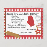 Cookie Recipe Thank You Note Invitation