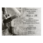 Cowgirl and Sunflowers Country Ranch Bridal Shower Card