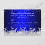 Crystal Snowflake Blue Christmas Party RSVP