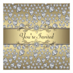 Diamonds Black and Gold All Occasion Party Card