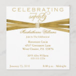 Elegant 70th Birthday Party Invitations