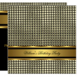 Elegant Gold Birthday Party Mens Man Invitation