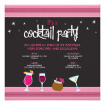 Fabulously Festive Cocktail Party (fuschia) Card