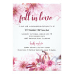 Fall Pumpkin and Dahlia Bridal Shower Invitation