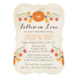 Floral Pumpkin Fall Bridal Shower Invitation