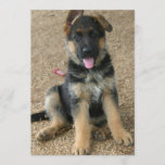 German Shepherd Puppy Invitation